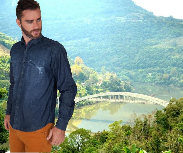 Vale do Rio das Antas e Camisa Jeans Lupim