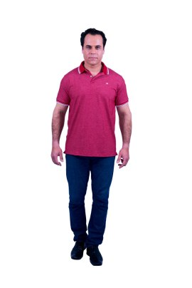 Camisa Polo masculina Lupim Vermelha
