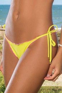 calcinha biquini cortininha amarelo frente