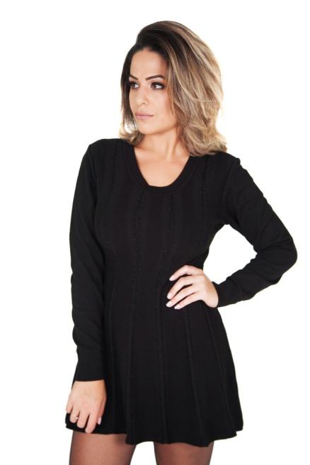 vestido-feminino-curto-manga-longa-preto-detalhes-metal-direita