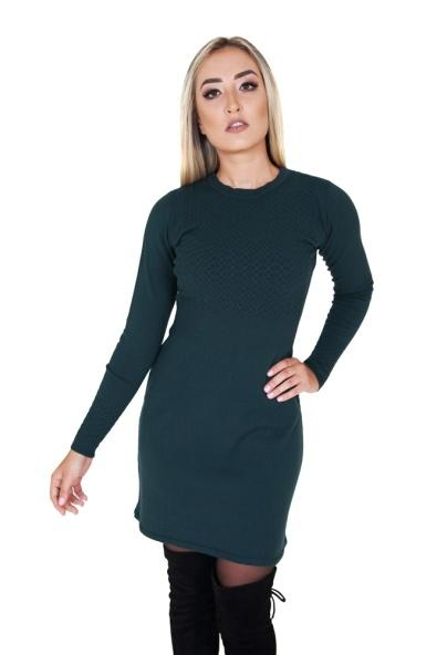 vestido-feminino-curto-manga-longa-verde-de-links-frente