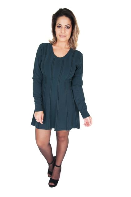 vestido-feminino-curto-manga-longa-verde-detalhes-metal-corpo-inteiro