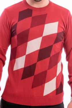 blusa-masculina-losangos-vermelha-detalhe