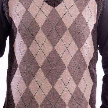 colete-masculino-marrom-geometrico-cinza-detalhe